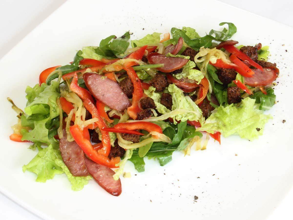 Рецепт горячих салатов